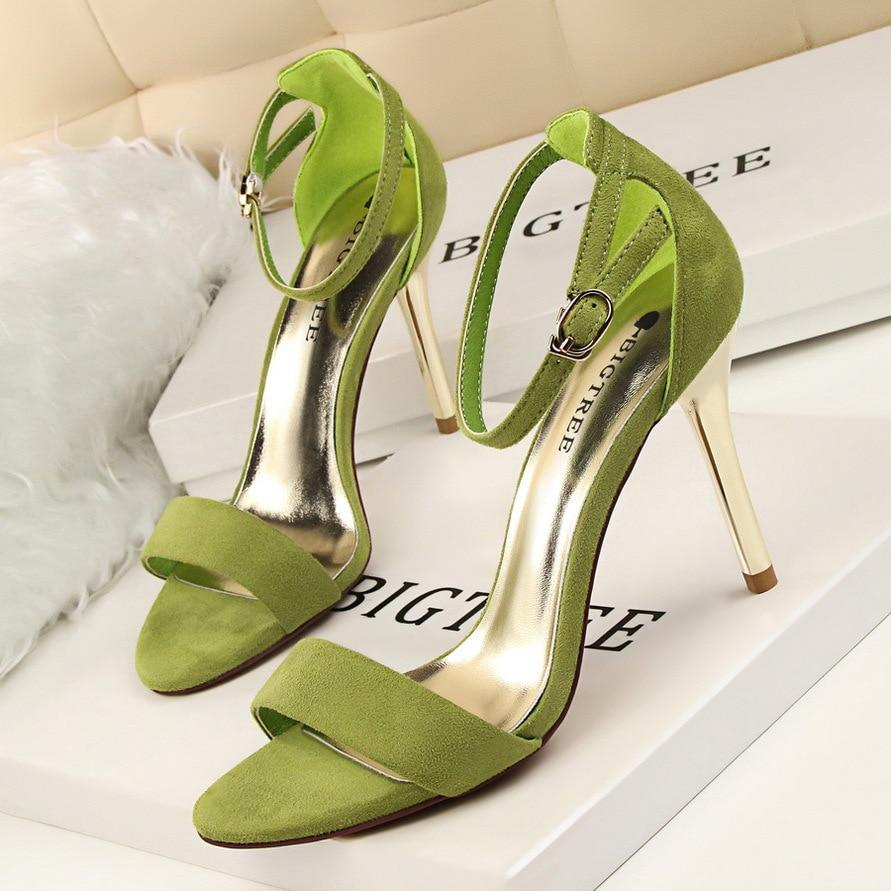 High Heels Fashion Open Toe Heels Sexy Stiletto Shoes Ladies Sandals