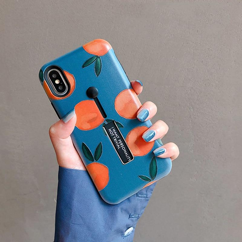 Retro Orange Painting iPhone Cases