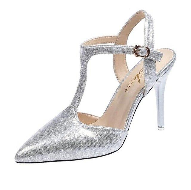 High Heel Single Shoes Sexy Pointed Toe Shoes Nightclub Pump