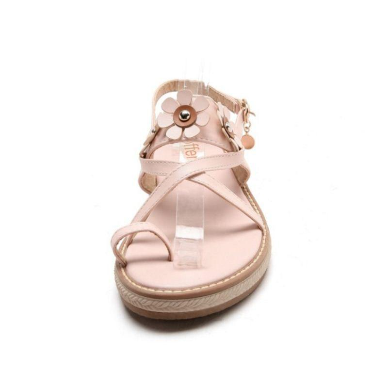 Flats Sandals Buckle Open Toe Ladies Summer Shoes Fashion
