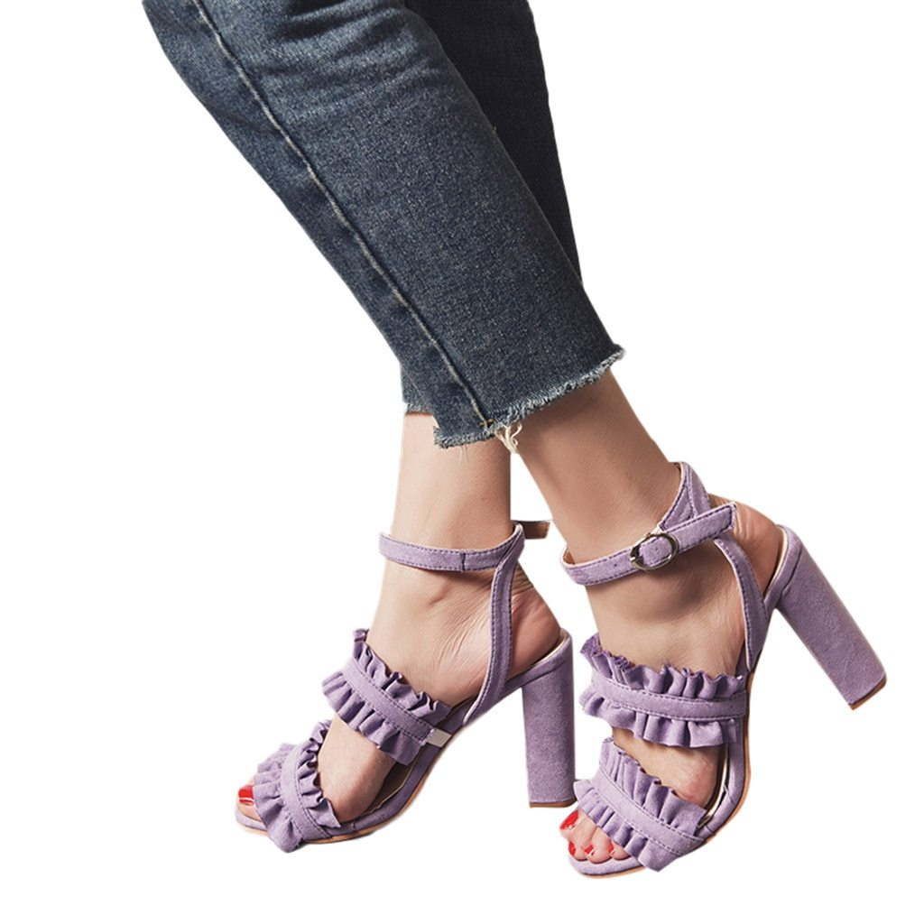 gladiator Fish Mouth Buckle Strap Lace Sandals Ankle High Heels Party Open Toe Shoes