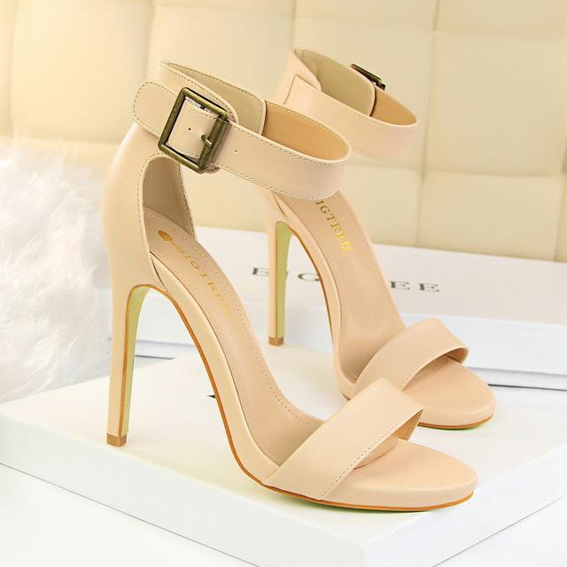 High Heels Fetish Quality Silk Sandals Female Gladiator Summer Cheap Shoes