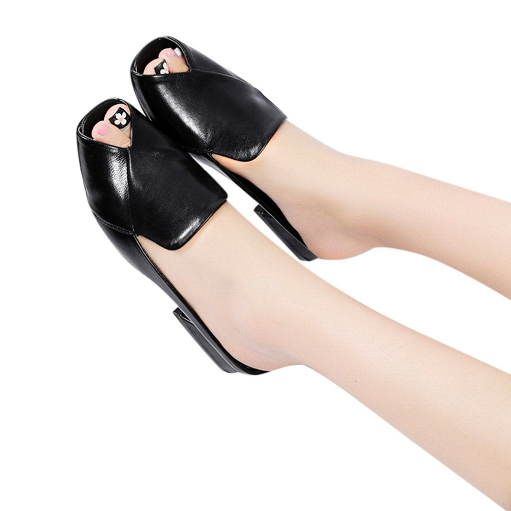 Fashion High Heels Sandals Casual Anti-Slip Shoes Ladies' Beach Slippers