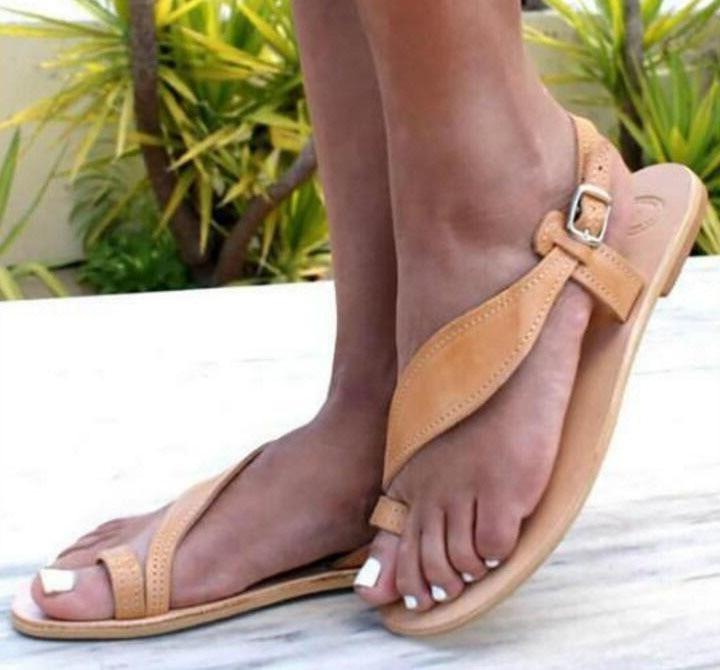 summer sandals beach girls leisure ladies  buckle open toe