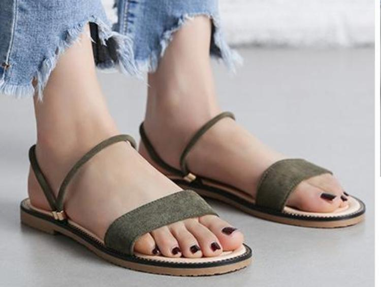 Fashion  Flat Sandals High Quality Ladies Brand Shoes