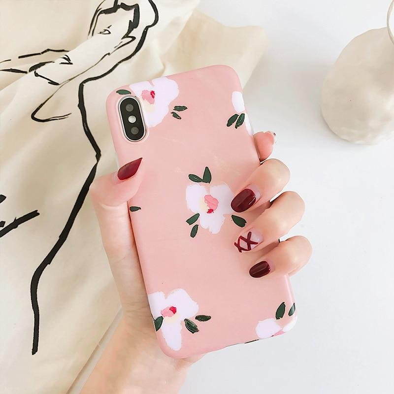 Hand Painted Floral iPhone Case