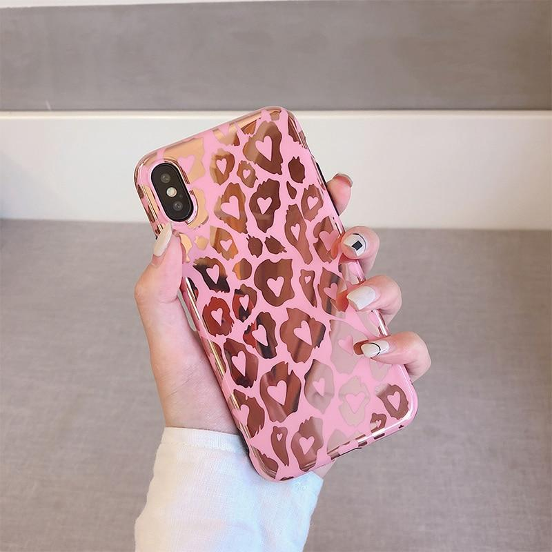 Pink Power Leopard iPhone Cases