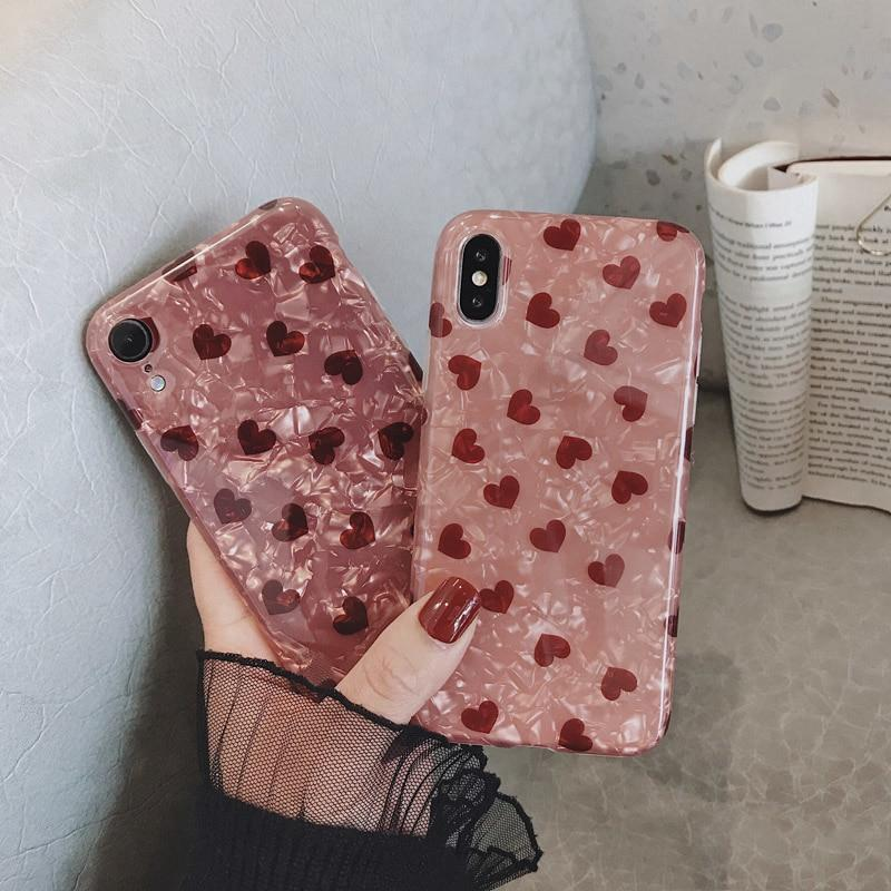 Lovely Heart Pattern iPhone Case