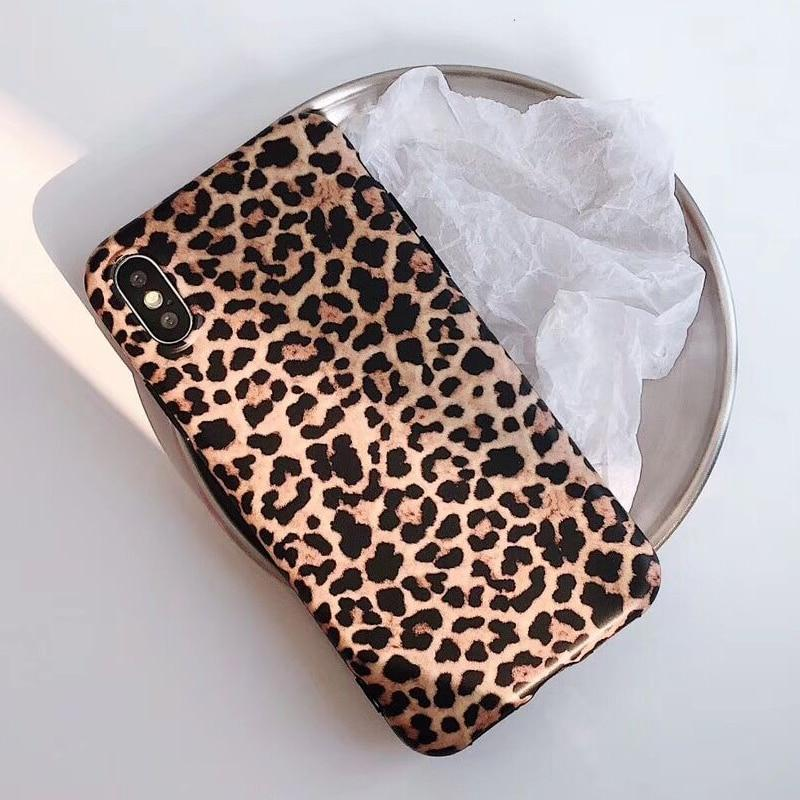Leopard Print Silicone Cases Cover Skin For iPhone