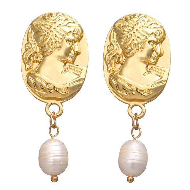 Greeks Lady Drop Earrings
