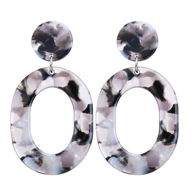 Retro Vintage Oval Drop Earrings