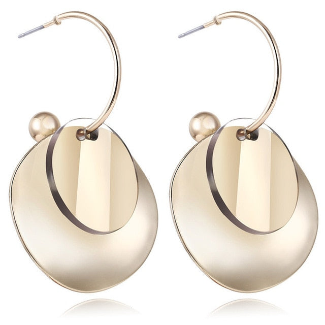 Round Hook Earrings Trendy
