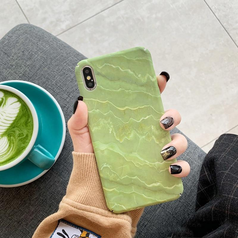 Matcha Green Marble iPhone Case