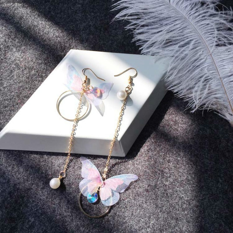 Asymmetric Butterfly Earrings