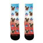 Custom Face Socks - 4th of July