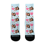 Custom Face Socks - Valentine's