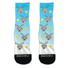 Custom Face Socks - Reindeer