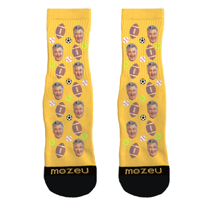 Custom Face Socks - I <3 Dad