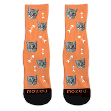 Custom Cat Socks - Fishbone