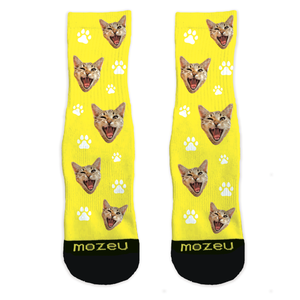 Custom Cat Socks - Paws