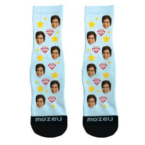 Custom Face Socks - I <3 Mom