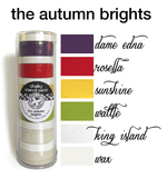 My Stencil Lady Paint Chalky Stencil Paint - The Autumn Brights Chalky Stencil Paint - The Autumn Brights Chalk Painting Stencils Australia