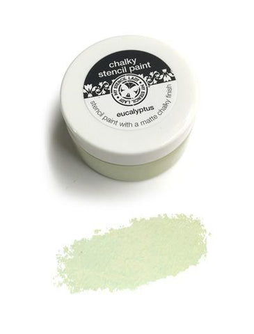 My Stencil Lady Paint Eucalyptus Chalky Stencil Paint - Eucalyptus Chalk Painting Stencils Australia
