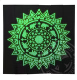 Mandala Timber Art 'GLOW IN THE DARK Elephant Mandala' *SOLD* - My Stencil Lady Australian Made Stencils Mandala Vintage Craft Scrapbooking