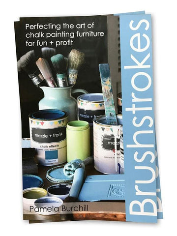 mezzie + frank chalk effects paint Book Brushstrokes (Book) Brushstrokes Chalk Painting Stencils Australia