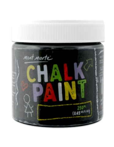 Mont Marte Studio Crackle Paste Crackle Paste Chalkboard Paint 250ml - Black Chalk Painting Stencils Australia