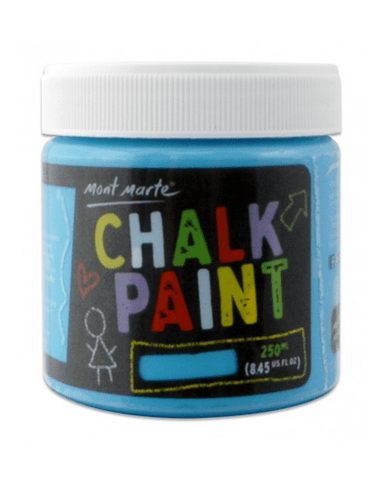 Mont Marte Studio Crackle Paste Blue Copy of Chalkboard Paint 250ml - Blue Chalk Painting Stencils Australia