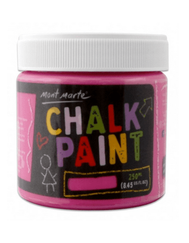 Mont Marte Studio Crackle Paste Pink Chalkboard Paint 250ml - Pink Chalk Painting Stencils Australia
