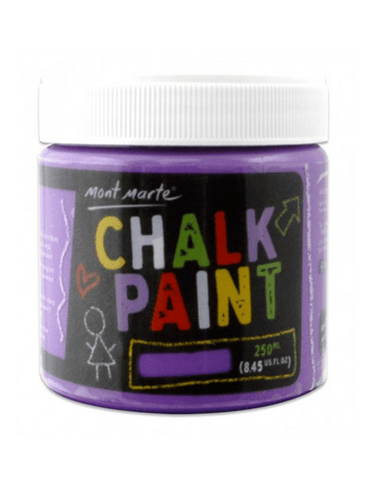 Mont Marte Studio Chalkboard Paint Purple Chalkboard Paint 250ml - Purple Chalk Painting Stencils Australia