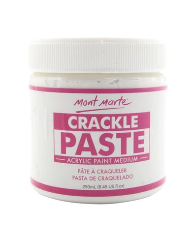 Mont Marte Studio Canvas Crackle Paste Crackle Paste Chalk Painting Stencils Australia