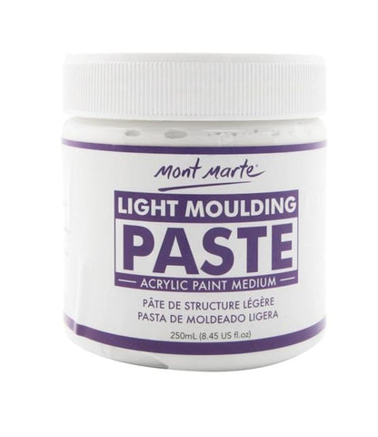 Mont Marte Studio Light Moulding Paste Light Moulding Paste Light Moulding Paste Chalk Painting Stencils Australia