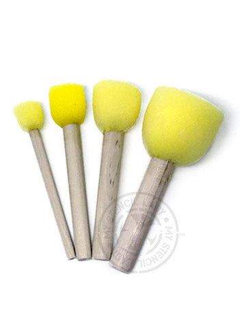 My Stencil Lady Stencil Brush Stencil Sponge Stick Stipplers 4 Pack Stencil Sponge Stick Stipplers 4 Pack Chalk Painting Stencils Australia
