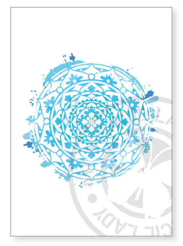 Artwork Print A003 - My Stencil Lady Australian Made Stencils Mandala Vintage Craft Scrapbooking