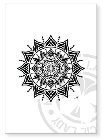 Artwork Print A005 - My Stencil Lady Australian Made Stencils Mandala Vintage Craft Scrapbooking
