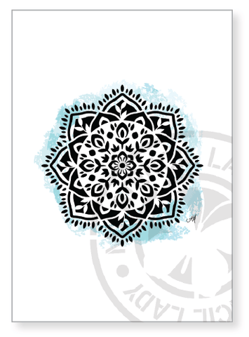 Artwork Print A008 - My Stencil Lady Australian Made Stencils Mandala Vintage Craft Scrapbooking