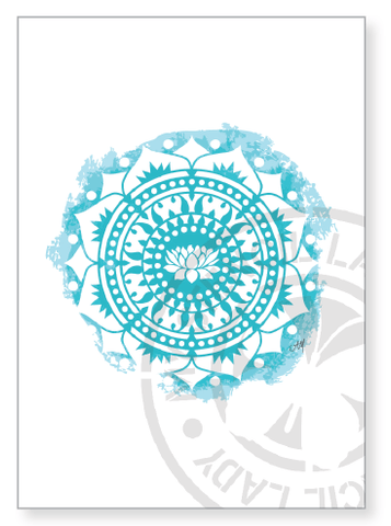 Artwork Print A013 - My Stencil Lady Australian Made Stencils Mandala Vintage Craft Scrapbooking