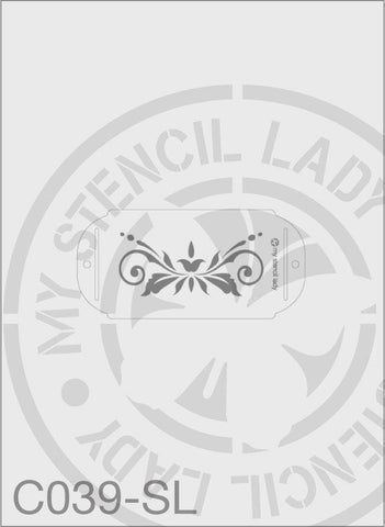My Stencil Lady Stencil Small Long - 120x70mm Max Design Cutout (Sheet Size 190x90mm) Stencil C039 Chalk Painting Stencils Australia