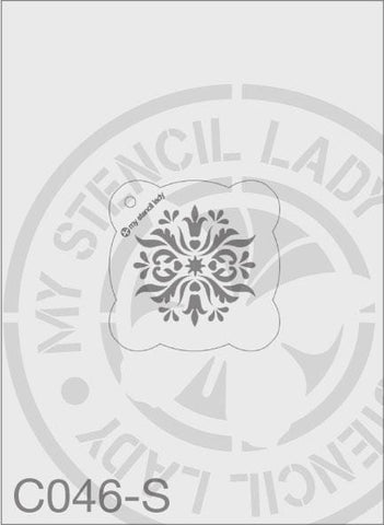 My Stencil Lady Stencil Small Round - 65mm Max Design Cutout (Sheet Size 95x95mm) Stencil C046 Chalk Painting Stencils Australia