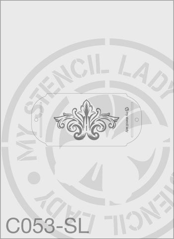 My Stencil Lady Stencil Small Long - 120x70mm Max Design Cutout (Sheet Size 190x90mm) Stencil C053 Chalk Painting Stencils Australia