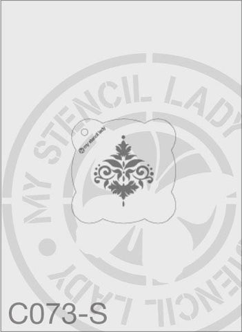 My Stencil Lady Stencil Small Round - 65mm Max Design Cutout (Sheet Size 95x95mm) Stencil C073 Chalk Painting Stencils Australia