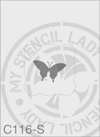 My Stencil Lady Stencil Small Round - 65mm Max Design Cutout (Sheet Size 95x95mm) Stencil C116 Chalk Painting Stencils Australia