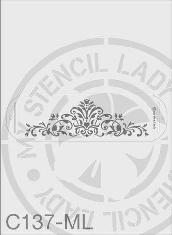 My Stencil Lady Stencil Medium Long - 245x75mm Max Design Cutout (Sheet Size 315x95mm) Stencil C137 Chalk Painting Stencils Australia