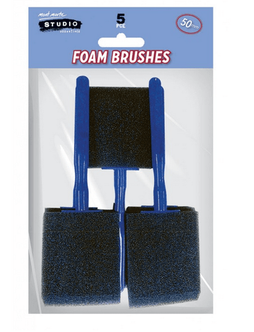 Foam Hobby Brushes 50mm - My Stencil Lady Australian Made Stencils Mandala Vintage Craft Scrapbooking