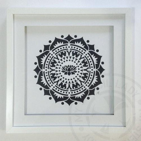 Artwork Print Framed AF005 - My Stencil Lady Australian Made Stencils Mandala Vintage Craft Scrapbooking