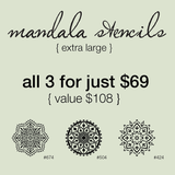 My Stencil Lady Stencil Mandala Stencils 3 Pack - Extra Large Size (Sheet Size 300x300mm) Celebration Stencil Packages Chalk Painting Stencils Australia