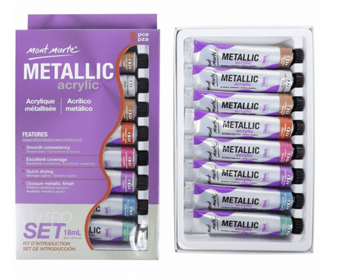 Metallic Acrylic Paint Set - My Stencil Lady Australian Made Stencils Mandala Vintage Craft Scrapbooking